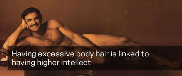 Those with more body hair may have a higher intelligence.