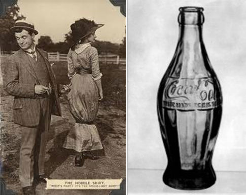 Coke bottle inspired by hobble skirt