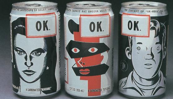 """""""ok"""" soda cans"""