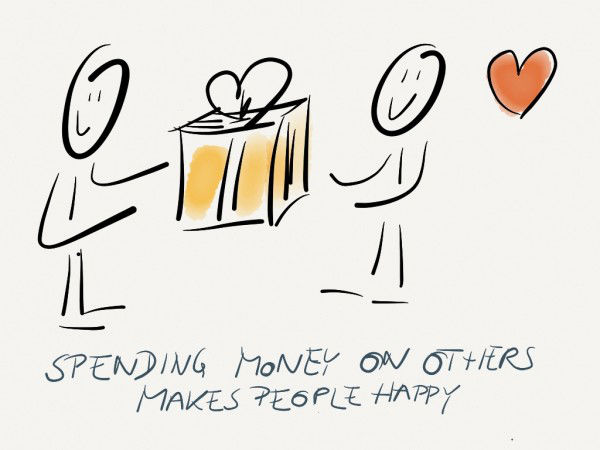 Spending money on others bring more happiness