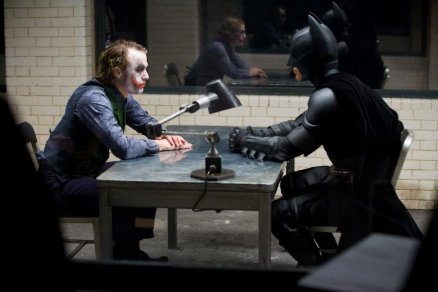 "interrogation scene in ""The Dark Knight"""