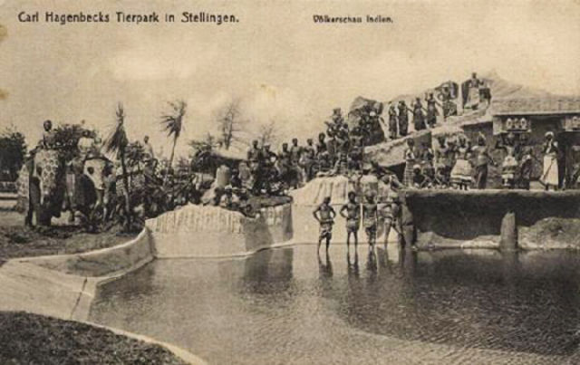 Africans, Asians, and Indigenous people at human zoo