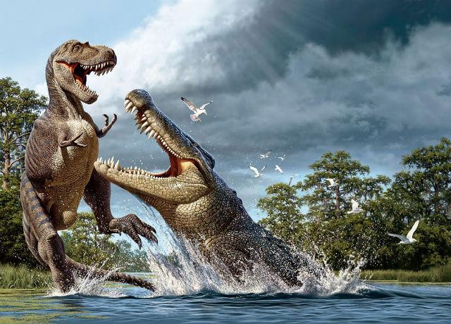 Galloping crocodiles