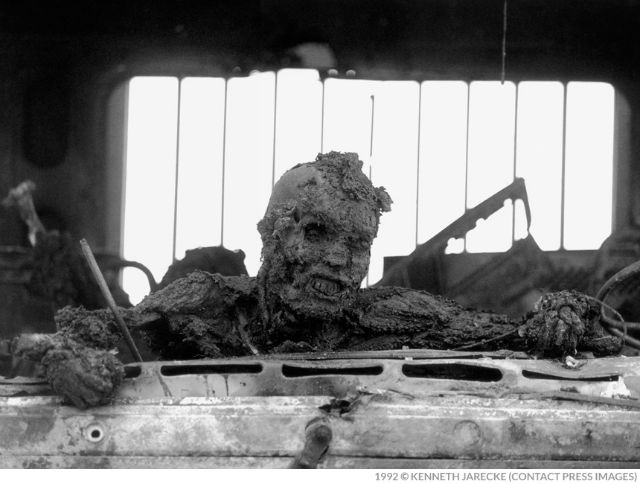 Iraqi tanker driver burned to death.