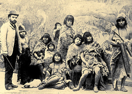 Group of Selk'nam natives
