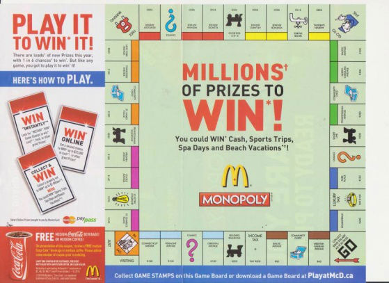 McDonald's Monopoly Marketing Promotion