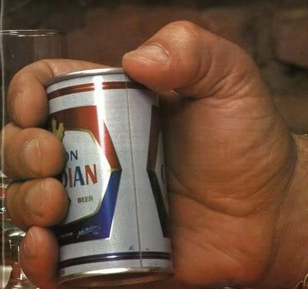 Andre the Giant Holding a 12 oz Beer