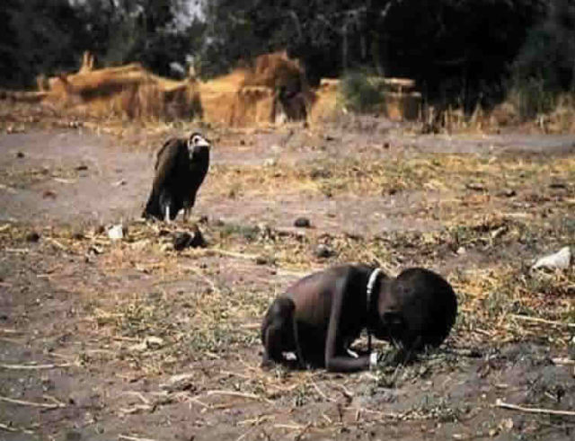 Starving Sudanese child
