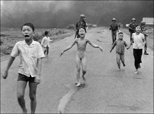 Terrified Vietnamese children, 1972.