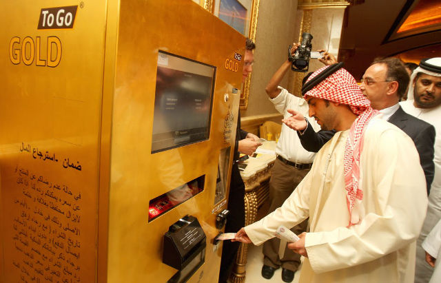Gold atm machines in dubai