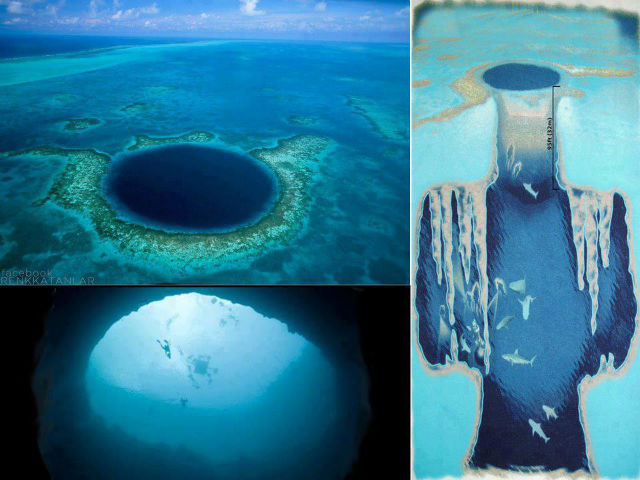 Great blue hole depth