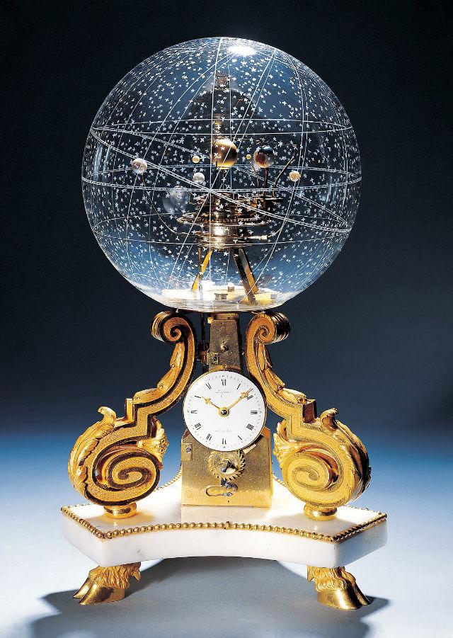 1770 Table Clock With Planetarium