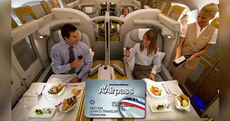 First-class travel pass, American Airlines
