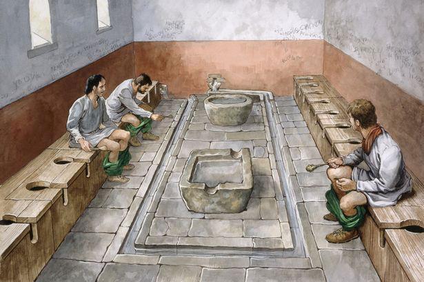 Roman toilet god