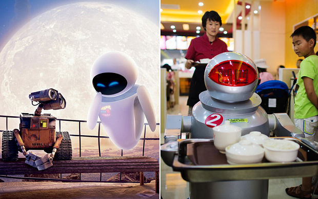 WALL-E robot restaurants in china