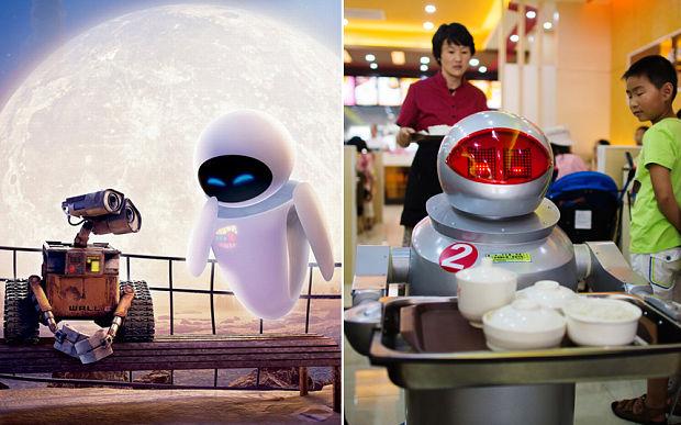 WALL-E robot restaurants in china