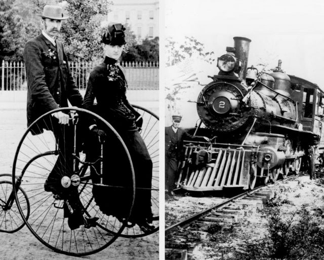 first bicycle and first train