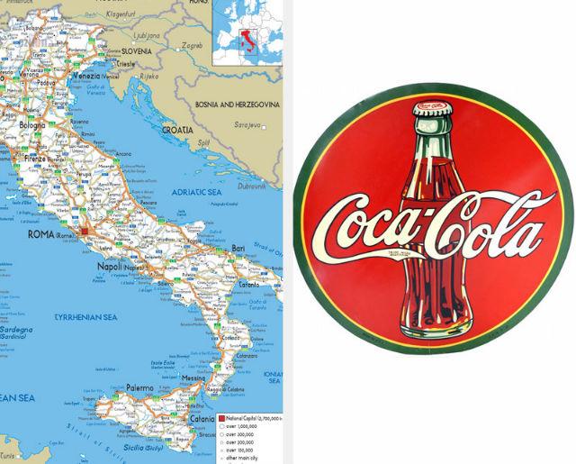 coca cola and italy
