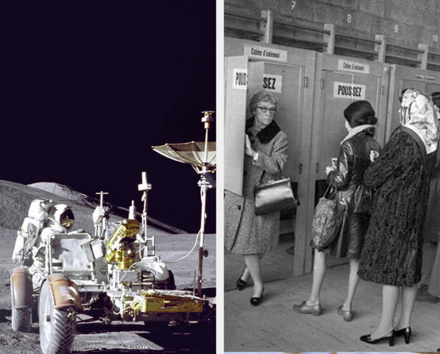 Switzerland women vote and America lunar