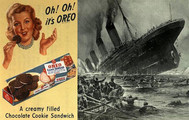 Titanic incident and oreo cookies