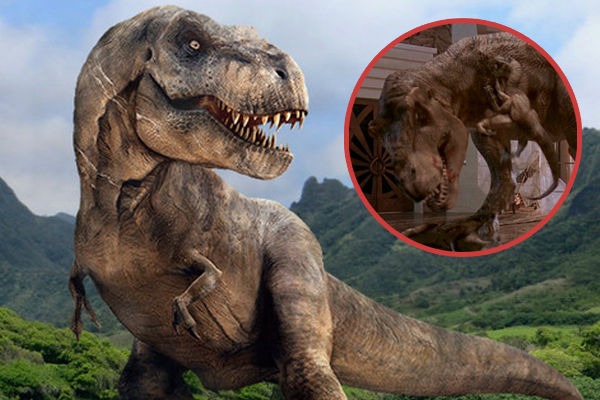 Same T rex from Jurassic park