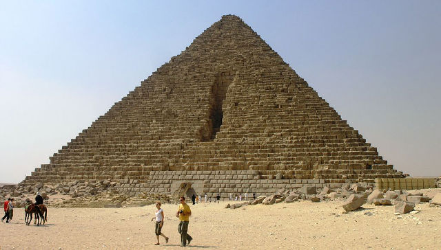 The Damage to the Pyramid.
