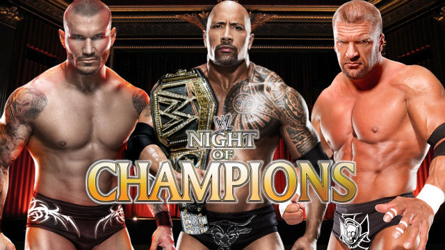 The Rock, Triple H and Randy Orton