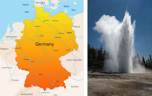 Yellowstone National Park and Germany