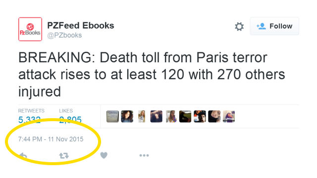 Bot on twitter predicted paris attack