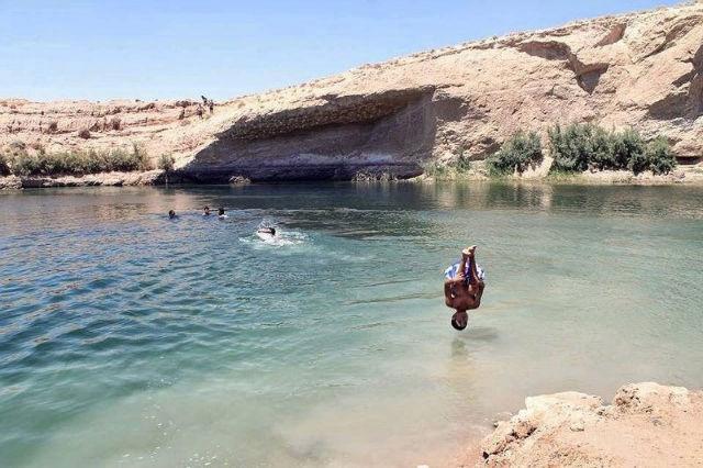 Mysterious lake of Tunisia