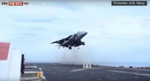 Pilot lands on stool