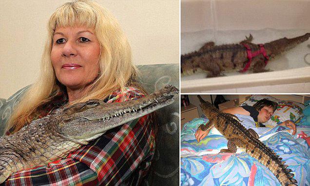 Croc lady Vicki Lowing