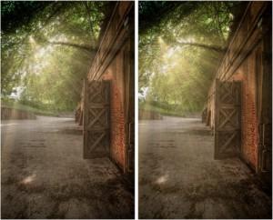 3D cross view illusion tutorial