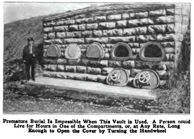 A burial vault built in 1890