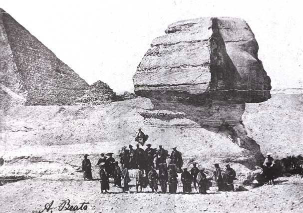 oldest photographs of the sphinx of giza