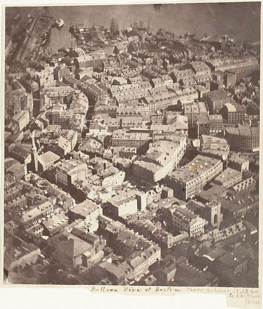 oldest aerial photograph of Boston