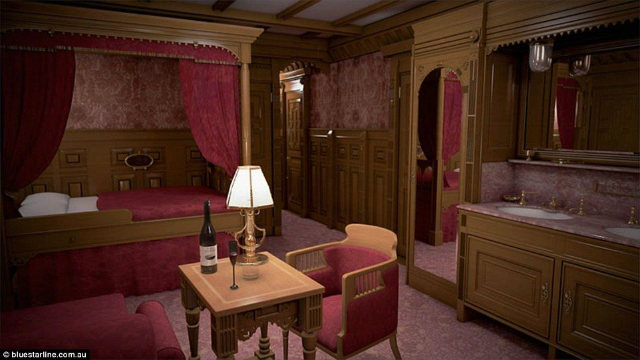 First class bedroom in Titanic II