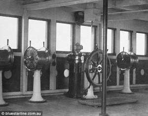 Engine room in Titanic