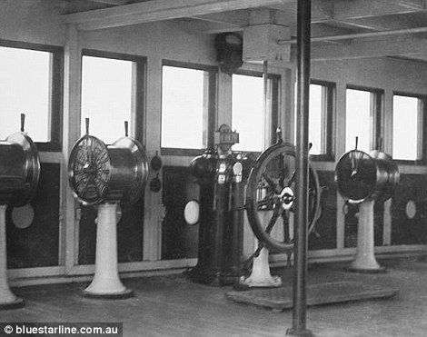 Engine room in Titanic