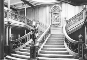 The staircase in Titanic