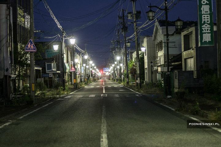 brightly lit street