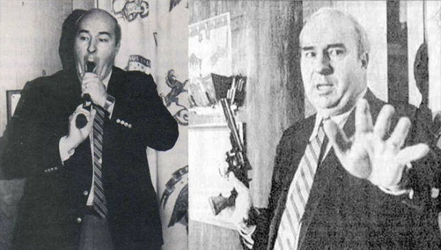 R.Budd Dwyer held a gun in his mouth and pulled the trigger