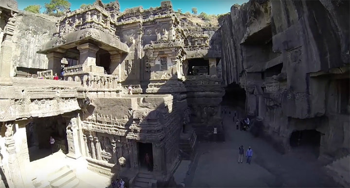 Entrance at Kailasa temple