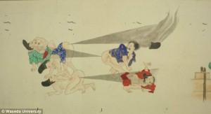 Random Fun Facts, Fart Battle Paintings in Japan