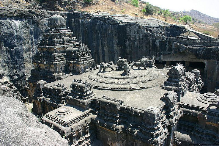 Kailasa temple built by the Rashtrakuta king Krishna I