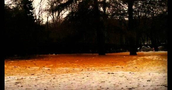 Orange Snow In Siberia in 2007