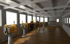 Engine room in Titanic 2