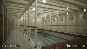 The swimming pool in Titanic 2