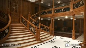 The famous staircase in Titanic II