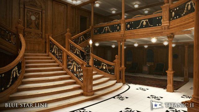 The staircase in Titanic II